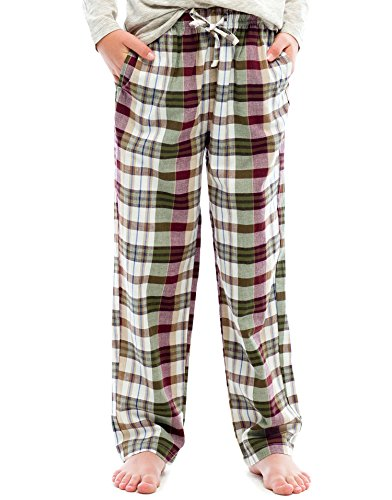 TINFL Boys Plaid Check Soft 100% Cotton Lounge Pants BP-22-Brown-YS by TINFL