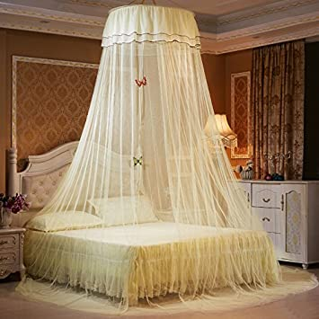 Lace Bed Mosquito Net Mesh Canopy Princess Round Dome Bedding Net 9H