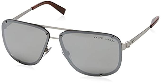 a9a3e20d8c10 RALPH LAUREN Men's 0RL7055 900387 64 Sunglasses, Black/Darkgrey ...