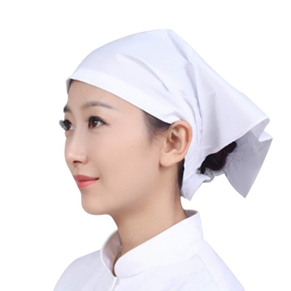 BOZEVON Arbeit Turban Cap - Japanische Kü che Hot Pot Restaurant Kochmü tze Kellner Dreieck Turban Cap