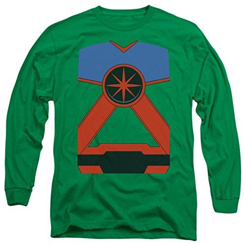 Long Sleeve: Justice League - Martian Manhunter Costume Tee Longsleeve Shirt Size XXL (Martian Manhunter Costume)