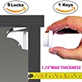 Baby : Baby & Child Proof Cabinet & Drawers Magnetic Safety Locks By Eco Baby Heavy Duty Locking System (5 pack)