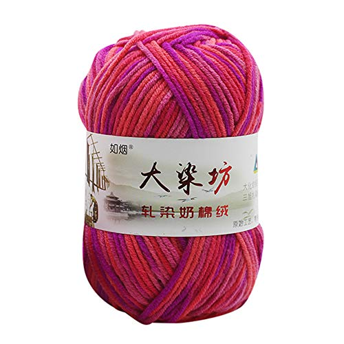 Clearance Sale ! Wool Balls Handcraft,Vanvler 1PC 50g Chunky Colorful Hand Knitting Baby Milk Cotton Crochet Knitwear Wool (DD)