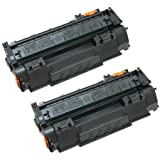 Amsahr Remanufactured Toner Cartridge Replacement for HP CC364A (Black, 2-Pack)