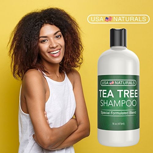 Tea Tree Oil Shampoo Sulfate-Free: Revitalize Hair, Combat Hair Loss and Cleanse Scalp with Naturally-Sourced Ingredients - Pure Tea Tree Oil, Organic Argan Oil, Organic Green Tea (Tea Tree Shampoo) by USA Naturals (Image #4)