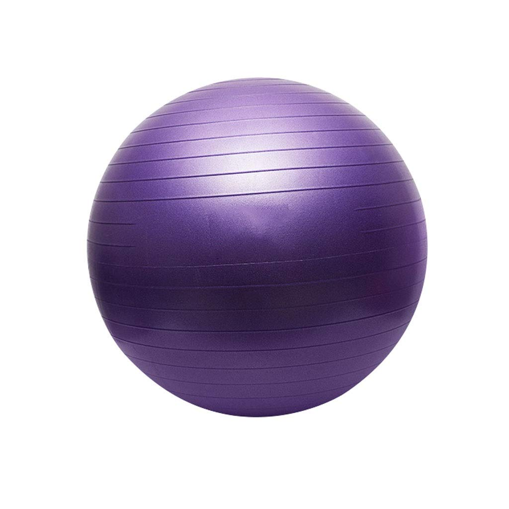 Exercise Ball, 55-75cm Gym Ball Supports 200kg, Anti-Burst & Extra Thick Swiss Ball with Quick Pump, Birthing Ball for Yoga Pilates Fitness Pregnancy & Labour (Color : Lilac purple-55cm)