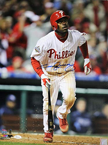 (Autographed Jimmy Rollins 16x20 Philadelphia Phillies Photo with JSA COA)