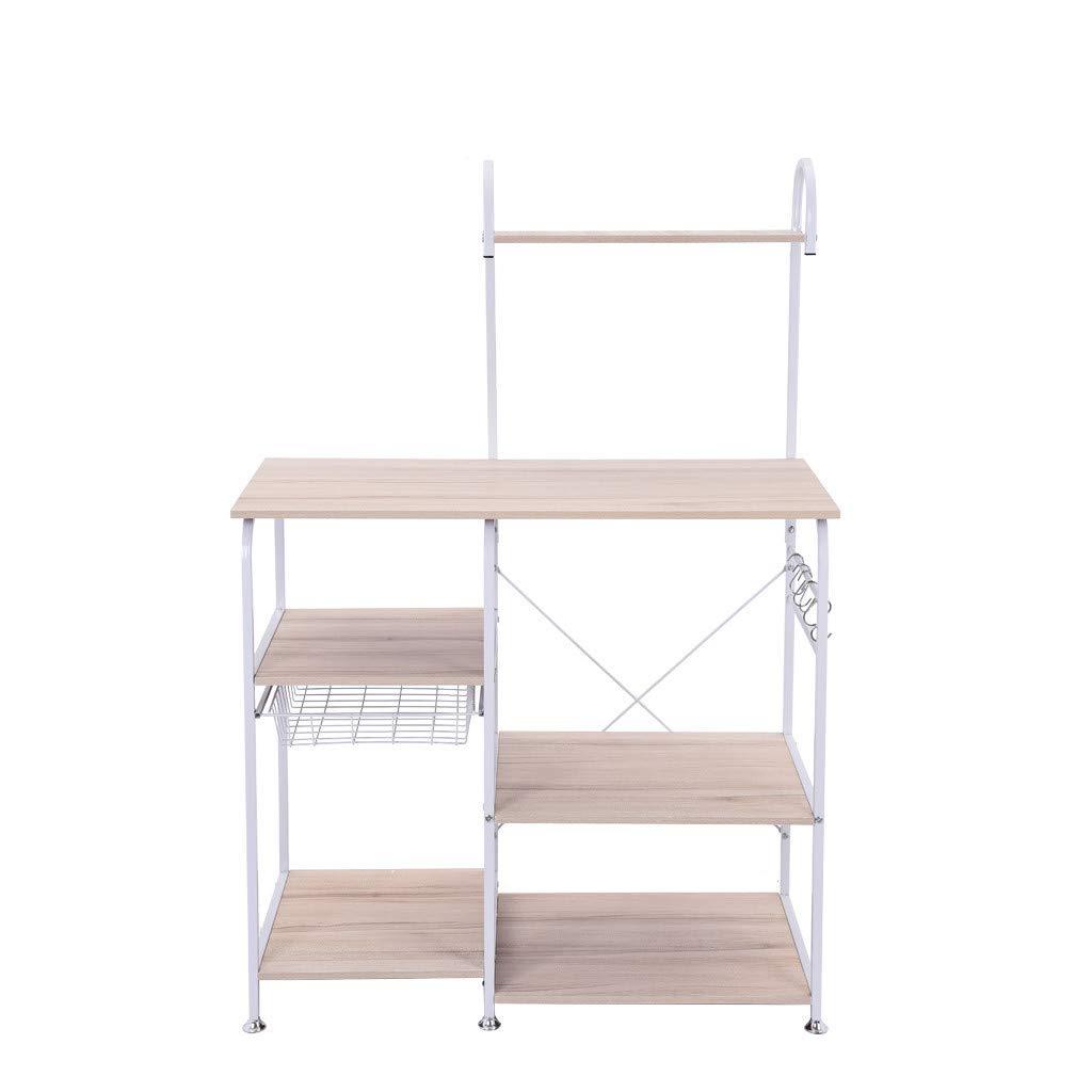 Shelf,Multifunctional Kitchen Rack Microwave Oven Floor Shelf Storage Storage Cupboard,Multipurpose Shelf,Tools & Home Improvement White by Chenchen Itd (Image #6)