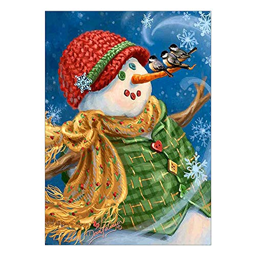 Christmas Snowman Diamond Embroidery Ankola 5D DIY Diamond Painting Embroidery Round Diamond Home Decor Gift (As Shown, B) by Ankola-Diamond Painting Kits (Image #3)