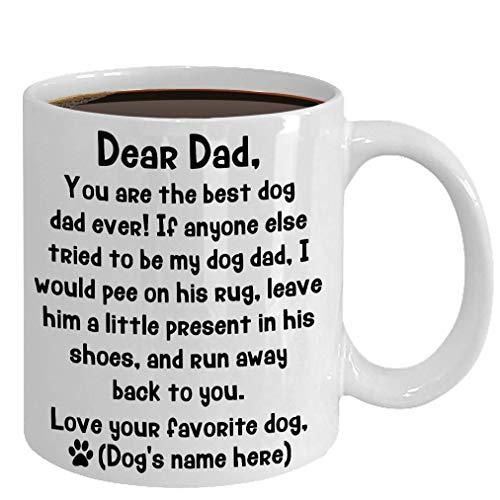 Dog Dad Mug Gift For Dog Dad From The Dog, Dog Dad Father