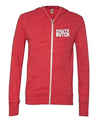 Hautebutch Women's Zip-Up Hoodie Small Red