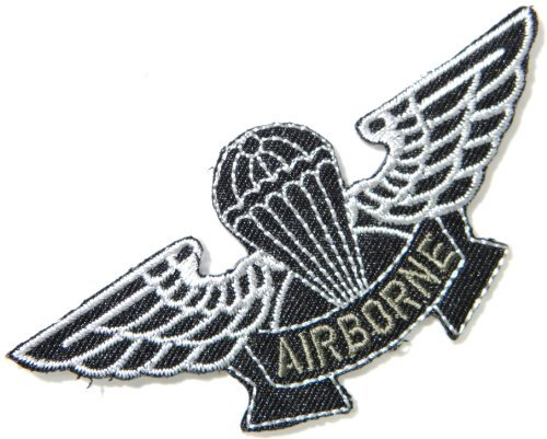 AIRBORNE AIR FORCES US USAF Paratrooper Pilot Tab army navy academy military us air force academy cavalry marine corps national guard logo Jacket Patch Sew Iron on Embroidered Sign Badge Costume
