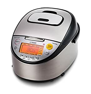 Tiger JKT-S10U-K IH Rice Cooker with Slow Cooker and Bread Maker Stainless Steel, Black 5.5-Cup