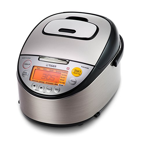 Tiger JKT-S10U-K IH Rice Cooker with Slow Cooking and Bread Making Function Stainless Steel, Black...