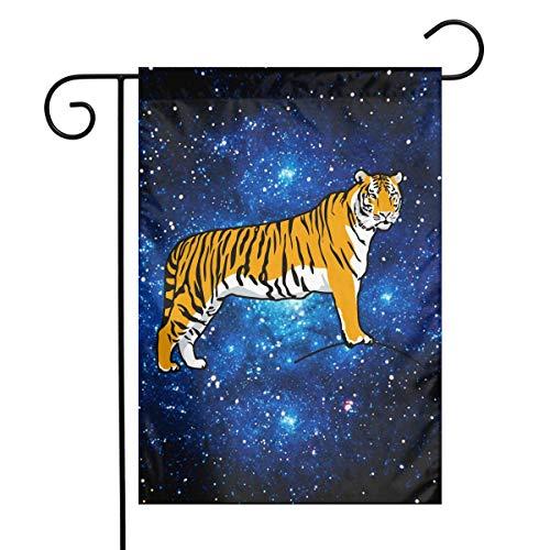 Tiger Clip Art Fashion Outdoor/Indoor Decorative Flag Wedding Anniversary Garden Flag 12