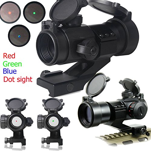 Ledsniper®1x30mm Tactical Red/green/ Dot Rifle Scope Sight with Cantilever Mount 4 MOA Red & Green Dot Sight Scope w/ Pepr Rail Mount