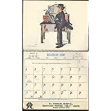 St Francis Hospital Federal Credit Union Norman Rockwell Calendar 1980