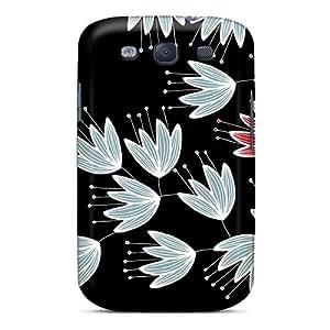 Defender Case For Galaxy S3, Odd Flower Pattern