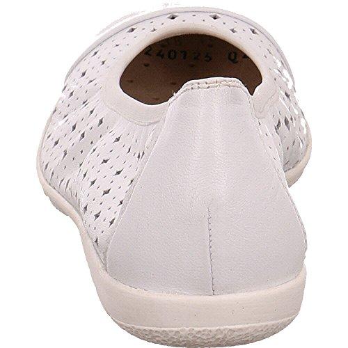 White de 22151 102 20 9 Mujer Nappa 9 Piel Para Caprice Bailarinas nqvw6Rx1