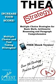 Thea practice questions thea practice tests exam review for the thea strategy winning multiple choice strategies for the texas higher education assessment by complete test fandeluxe Choice Image