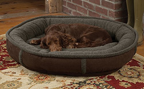 Orvis Wraparound Dog Bed / Small Dogs 15-35 Lbs., Chocolate,