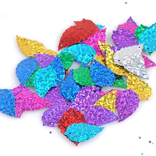 Elliptical Skirt - Loose Sequins - 23g 250pcs Mixed Color 14x24mm Shiny Decorate Leaf Loose Sequin Sewing Diy Cp1413 - Elliptic Rounded Elliptical Spangle Ovate Ellipse Oviform Prolate Ovoid