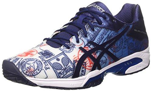 Asics Herren Gel-Solution Speed 3 L.e. Paris Tennisschuhe Mehrfarbig (Imperial/indigo Blue/vermilion)