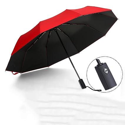 HUACANG Hombres Dobles Plegables súper Grandes automáticos del Paraguas, Paraguas publicitario Impermeable a Prueba de