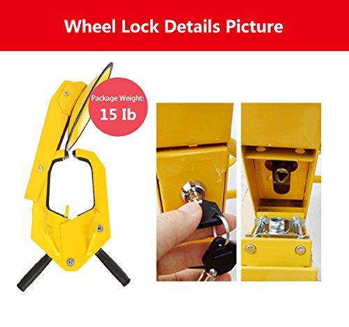 COOCHEER Heavy-duty Car Tire Wheel Lock Anti-theft Lock (large) by COOCHEER (Image #6)