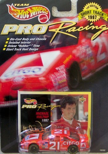 Hot Wheels 1997 1st Edition Michael Waltrip #21 Citgo Pro Racing Short Track 1:64 Scale Die Cast Car - 64 Hot Wheels Racing