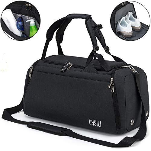 Sports Gym Bag with Shoes Compar...
