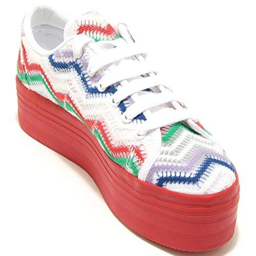 Zomg Jeffrey Sneaker Scarpa Rosso Tela Multicolore Pizzo Blu Verde Campbell 7792f Zeppa wwq0gCF