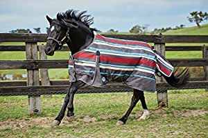 "Weatherbeeta Original 1200D Pony Standard Neck Lite (57"", Gray Stripes)"