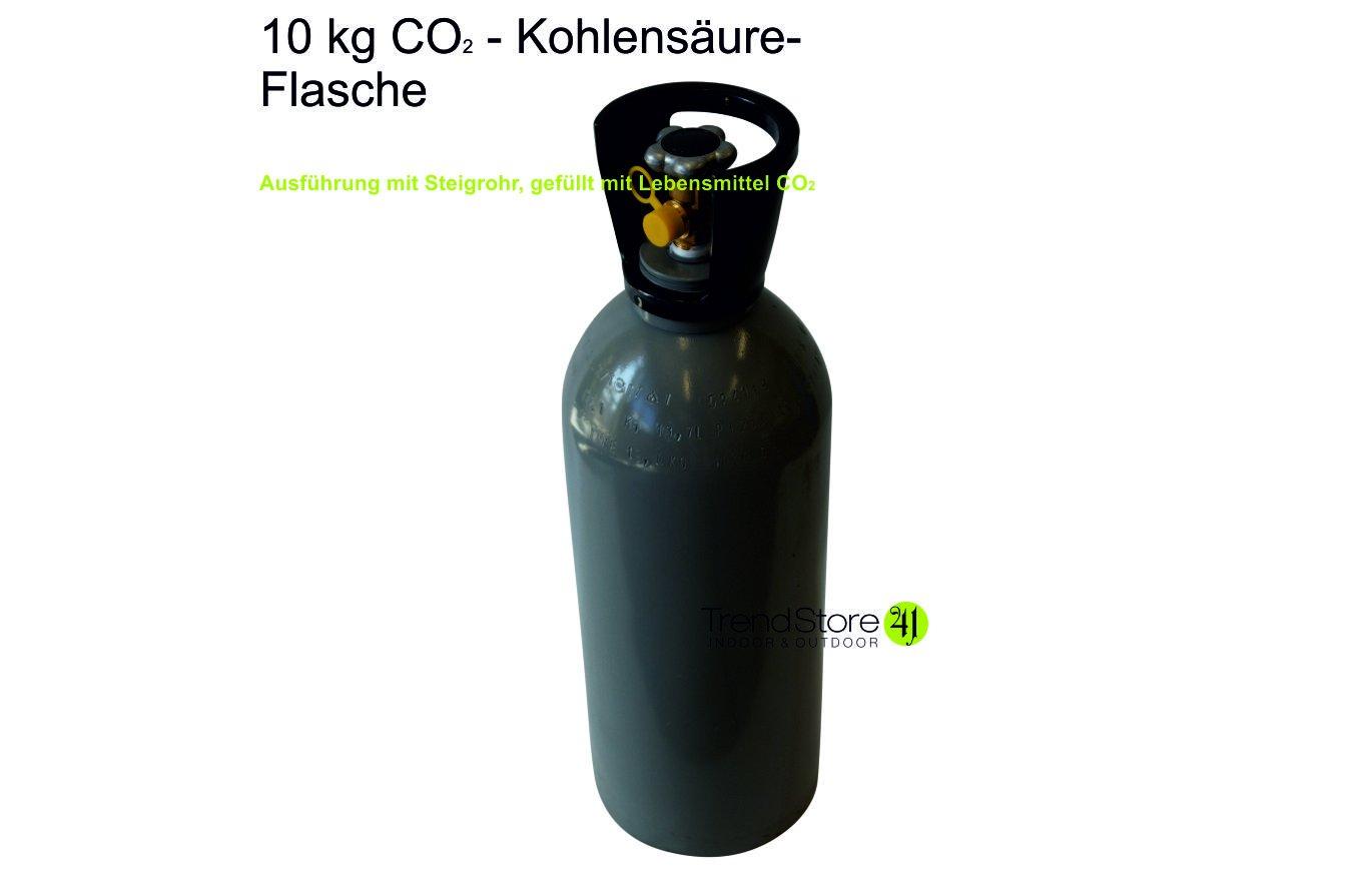 CO2 10 kg Kohlensäure / Kohlendioxid mit Steigrohr von TrendStore41