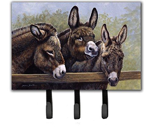 Donkey Coat - Caroline's Treasures BDBA0235TH68 Donkeys By Daphne Baxter Leash Or Key Holder, Triple, Multicolor