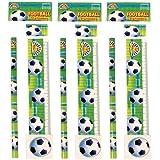 4 Piece Football stationery set