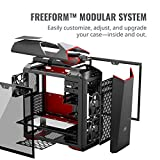 Cooler Master MasterCase MC500Mt ATX-Mid-Tower Case w/Freeform Modular, Type-C I/O Panel, 2X Tempered Glass Side Panel, RGB Panel Plate, Carrying Handle & Cable Management Cover