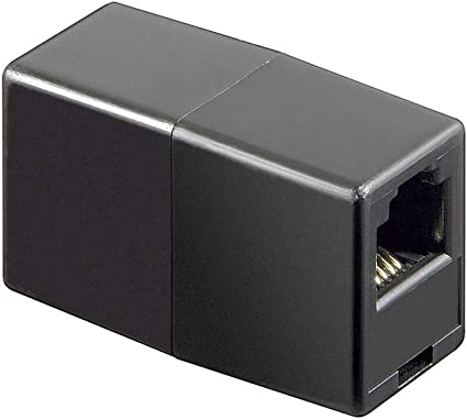 Wentronic Telefon Adapter RJ11-Kupplung, RJ11 Buchse auf RJ11 Buchse