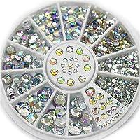 1 Box Nail Stones Crystal Ab Colors Mixed Size Acrylic Design Nails Art Rhinestones Decoration Manicure Rhinestones for Nail - Multicolor