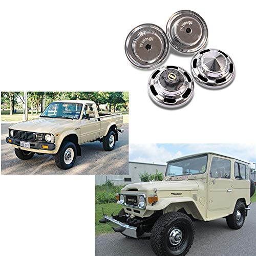 Cailiaoxindong Metal Hub Cap Wheel Cover for DJC-0627 RC4WD TF2 FJ40/FJ45/FJ55 HPI FJ Land Cruiser lc70/lc80 RC Car Decorative Shell Parts