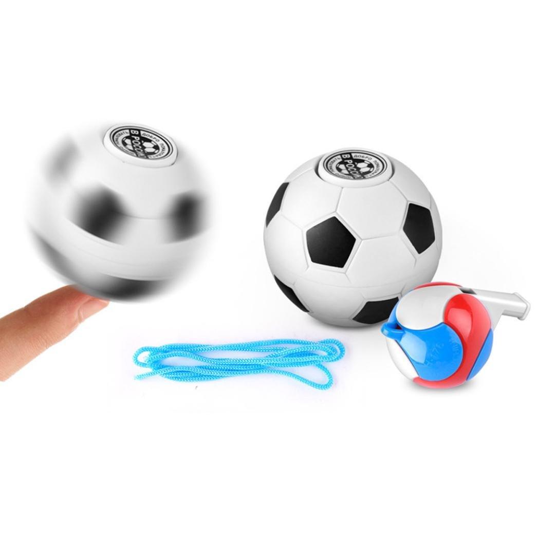 Bescita 2017 Football basket-ball doigt Main Spinner EDC soulager le stress gyroscope jouet, motif ballon de football