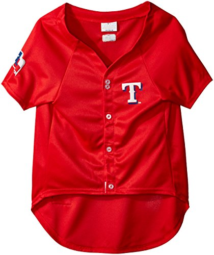 MLB Texas Rangers Dog Jersey, XX-Large. - Pro Team Color Baseball Outfit