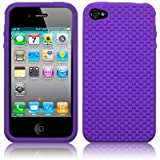 IPHONE 4 / IPHONE 4G WEAVE DESIGN SILICONE SKIN / CASE / SHELL / COVER - PURPLEby TERRAPIN