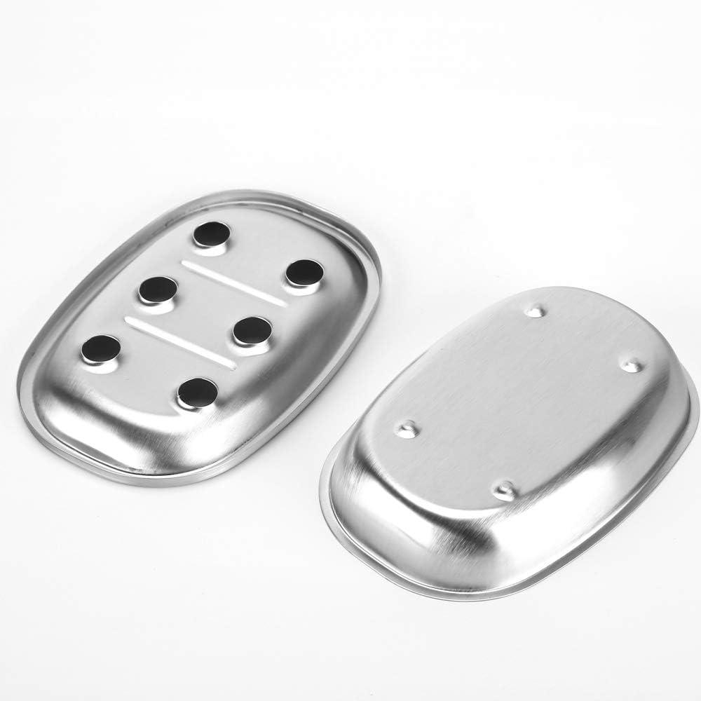 Doble Capa 2 Unidades Jabonera de Acero Inoxidable para Cocina y ba/ño CASA CLAUSI