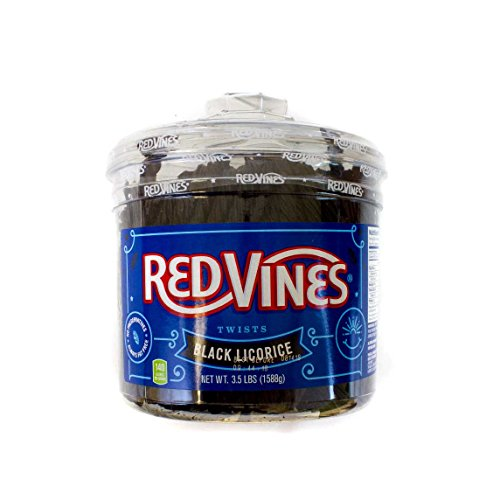 Red Vines  Black Licorice Twists, 3.5-LB Jar