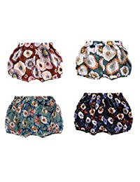 AYIYO Baby Infant Toddler Girls Harem Pants Floral Bloomer Shorts