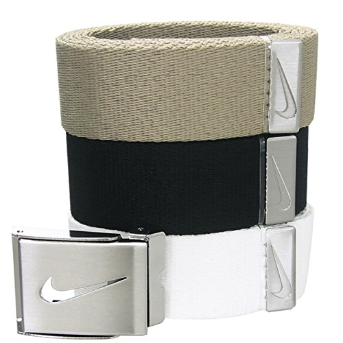 Nike+Golf+3+in+1+Web+Pack+Belt+One+Size+White%2FKhaki%2FBlack