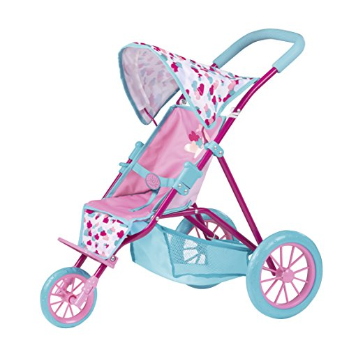 Zapf Chair - Zapf Creation Baby Born 824146 Tri Push Chair, Teal/Pink