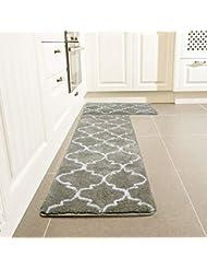 Amazon Com Grey Kitchen Rugs Kitchen Table Linens Home Kitchen