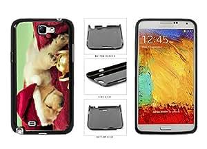 Cute Santa Dog Plastic Phone Case Back Cover Samsung Galaxy Note II 2 N7100